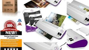 Thermal Hot Cold Laminator Machine 50 Pack Laminating Pouches Sheets Warms
