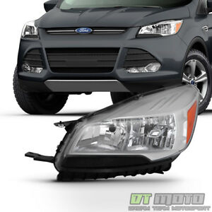 2013 2016 Ford Escape Factory Halogen Style Headlight Headlamp Left Driver Side