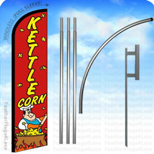 Kettle Corn Windless Swooper Flag Kit Feather Banner Sign 15 Rf