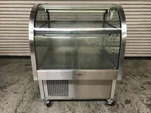 37 Dual Temp Curved Glass Bakery Display Case Randell 4137scam 7648 Commercial