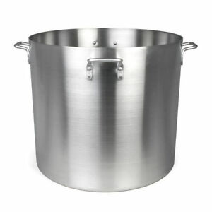 New 160 Qt Stock Pot Aluminum Thunder Group Alsksp014 7398 Commercial Cook Nsf