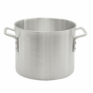 New 20 Qt Stock Pot Aluminum Thunder Group Alsksp004 7385 Commercial Cook Nsf