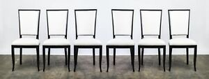 Impressive Set Of Six 6 Art Deco Dining Chairs