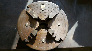 Westcott Chuck Company 4 Jaw Lathe Chuck With 2 3 8 8tpi Back Plate Made In Usa