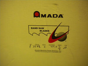 Amada Svglb Band Saw Blades 25ft 6 1 2 x2in X 063 See Listing For Diff Tooth