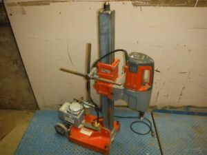 Used Husqvarna Dm280 Low Speed Electric 20 Amp 3 speed Core Drill W Stand