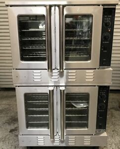 New Convection Oven Double Stack Gas Black Diamond 7524 Nsf On Wheels Bakery