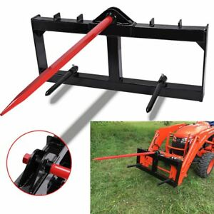49 Tractor Hay Spear Attachment 3000 Lb Capacity Skid Steer Loader Quick Tach