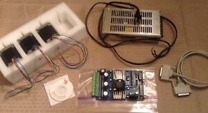 3 Axis Cnc Kit Board Stepper Motors Power Supply And Software