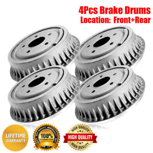 Centric Front Rear Brake Drums 4pcs For Ford F Series