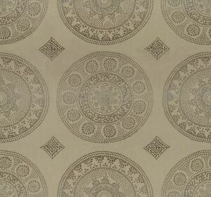 Groundworks Contemporary OUTDOOR Upholstery Fabric- Modern Dial Taupe 2.90 yd