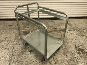 Half Height Bulk Full Sheet Pan Cart Aluminum 7719 Commercial Bakery Transport