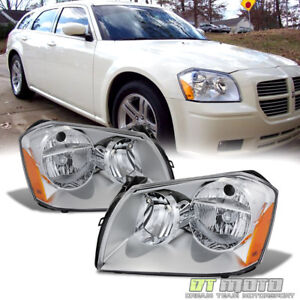 2005 2007 Dodge Magnum Headlights Headlamps Replacement 05 06 07 Set Left Right