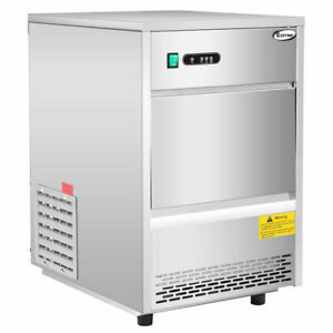 Commercial Automatic Ice Maker Machine 70lbs 24h Stainless Steel Freestanding
