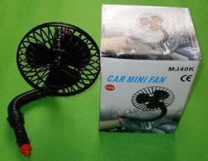 12v Mini Car Vehicle Boat Truck Cooling Fan Cooler Cool New