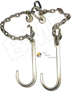 V Type Tow Chain J Hook 3 8 Grab Hook Cable Tractor Car Wrecker Truck Tie0900134