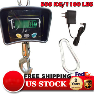 Digital Crane Scale Industrial 500 Kg 1100 Lbs Hanging Crane Portable Lcd Displa