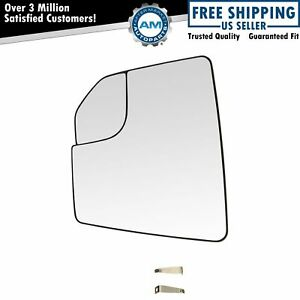 Mirror Glass With Spotter Heated Driver Side Left Lh For Ford F150 Pickup Truck