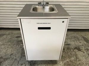 Portable Hot Water Hand Wash Sink Mobile Station Mill Works 7483 Commercial Nsf