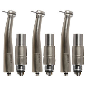 3x Dental Turbine Fiber Optic Led High Speed Handpiece Coupler Push Chuck Fm tk
