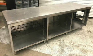 100 Drink Prep Station Table Cabinet All Stainless Steel Tabco 7458 Commercial