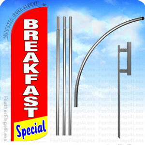 Breakfast Special Windless Swooper Flag Kit Feather Banner Sign 15 Rq
