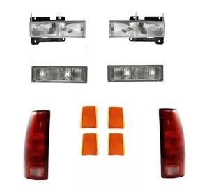 88 93 Chevy Truck For Headlights Parklamp Tail Lights Side Marker 92 93 Suburban