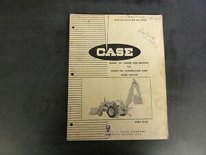 Case Model 23 Loader Backhoe For Model 430 Wheel Tractor Parts Catalog A924