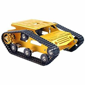Big Track Robot Car Chassis Smart Tank Platform With 2wd Motors And Made Of Pi