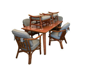 Ficks Reed Dining Set Table Far Horizons John Wisner Rattan Mid Century Mcm