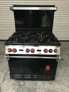 29 6 Burner Range With Standard Oven Wolf Ch 6 29 7809 Commercial Stove Nsf