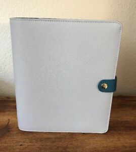 Kikki K Blue Large Leather Agenda Personal Planner Extras Excellent Cond