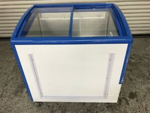 Ice Cream Chest Display Freezer Sliding Glass Top Conagra Xs208 7818 Commercial