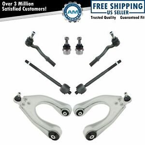 8 Piece Steering Suspension Kit Upper Control Arms Tie Rods Lower Ball Joints
