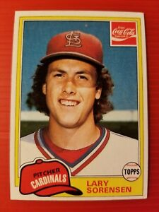 VINTAGE LARY SORENSEN - COCA-COLA #9 ST. LOUIS CARDINALS - 1981 TOPPS MLB