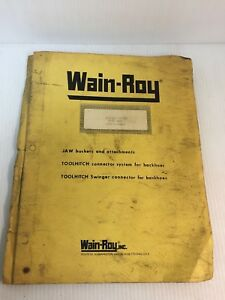 Wain Roy Swinger Bucket System On Case 680k Parts Service Manual