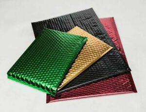 Metallic Bubble Mailers Padded Envelopes Bags Choose Your Size Color