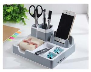 Storage Pen Charging Holders Accessories Office Multi Functional Organizer