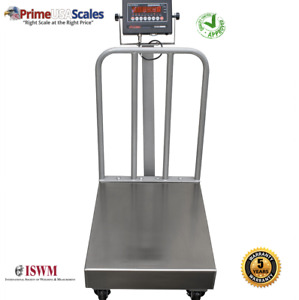 500 Lb X 0 1 Legal For Trade Industrial Bench Scale 18 X 24 With Backrails