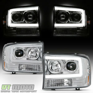 1999 2004 Ford F250 F350 Superduty led Tube Projector Headlights Headlamps