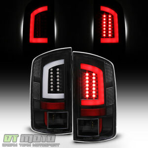 Black 2007 2008 Dodge Ram 1500 07 09 Ram 2500 3500 led Tube Tail Lights Lamps