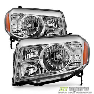 For 2009 2010 2011 Honda Pilot Headlights Headlamps Replacement 09 11 Left right