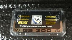 New Lexus Chrome Lfi Gs300 License Plate Frame Fits All Years