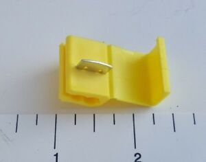 50 Pcs Yellow Quick Splice Tap Wire Terminal Connector 12 10 Gauge