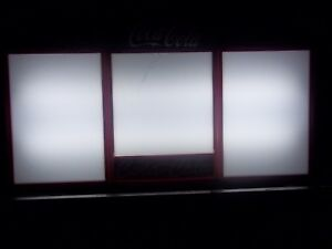 Coca Cola Lighted Menu Board Sign W 8 Sets Of Letters numbers Symbols