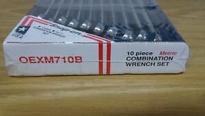 Snap on oexm710b 10 piece metric combination wrench set free shiping Snap on o