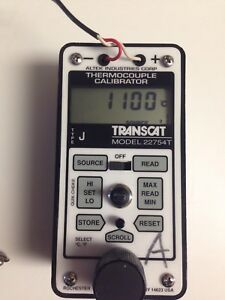 Transcat Altek Model 22754t Thermocouple Calibrator J Process Meter Fluke