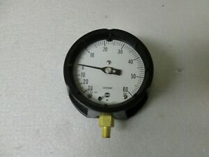 New Usg Solfrunt Pressure Gauge In Hg Vacuum 30 To 60psi 4 1 2 02403