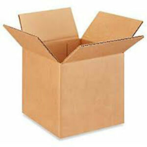 4x4x4 Cardboard Packing Mailing Moving Shipping Boxes Corrugated Box Cartons New