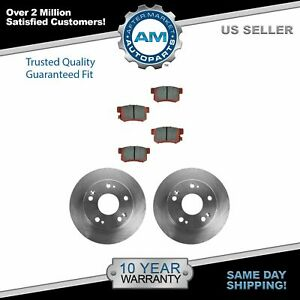 Nakamoto Rear Ceramic Disc Brake Pad Rotor Kit Set For Honda Accord Acura Tsx